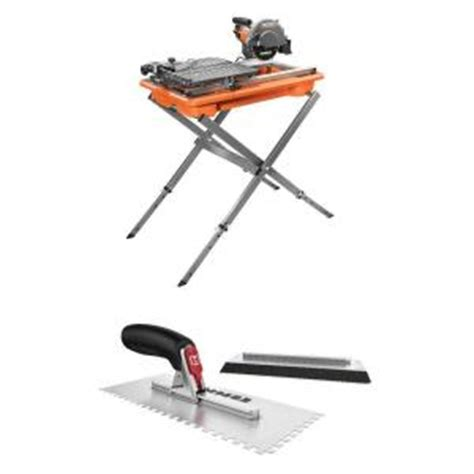 Ridgid Tile Saw Stand by Ridgid 7 In Tile Saw With Stand And Hart Tatch