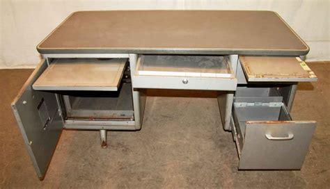 office furniture metal desk 1950s metal tanker desk olde good things