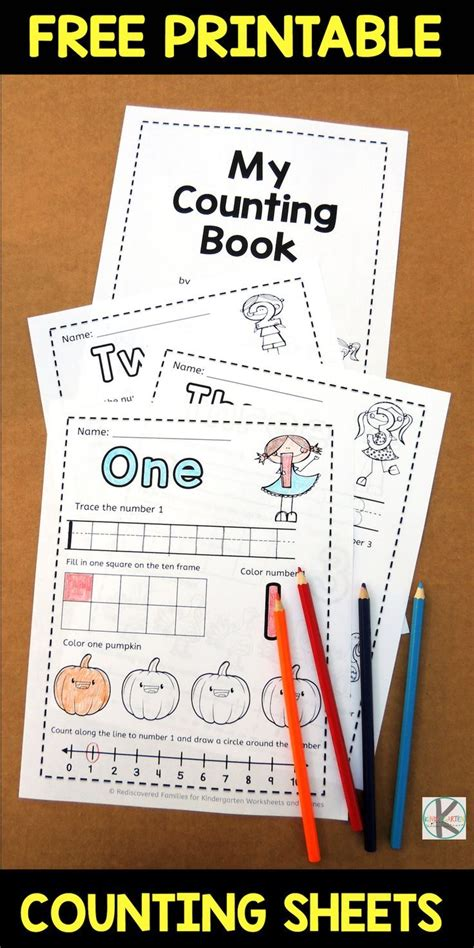 fall worksheets counting    preschool