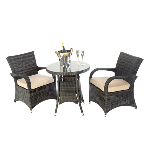 kensington club 70cm arizona bistro set brown outside