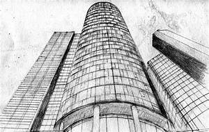 Tall Buildings Sketch, Skyscrapers, Pencil Drawing by ...