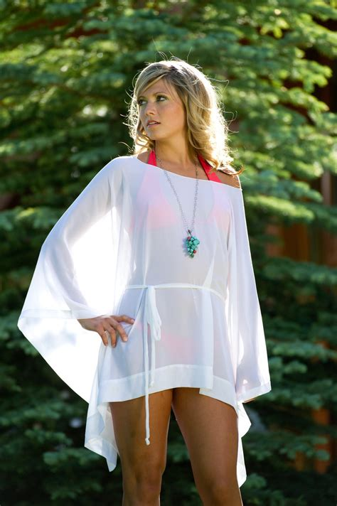 Sale Short Draped Sheer Beach Cover Up Kaftan Swimsuit