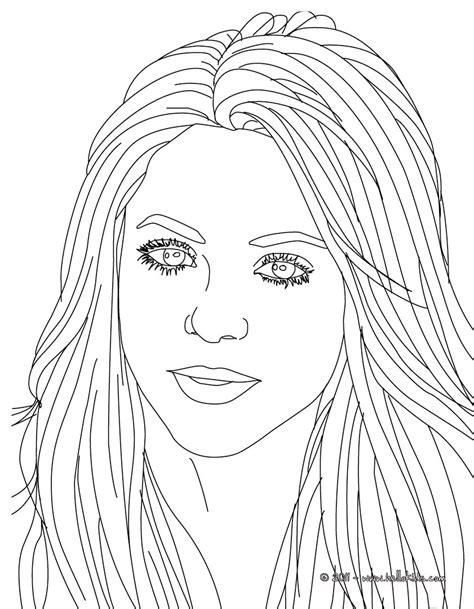 shakira songwriter coloring pages hellokidscom