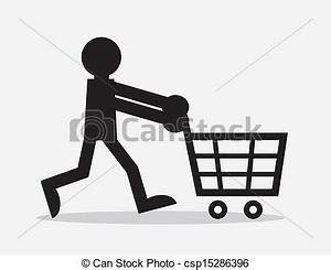 Abstract The Art Of Design Online Español Eps Vectors Of Shopping Cart Figure Silhouette Figure