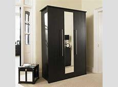 Luxury Bedroom with Black Wardrobe with Mirror Doors, Top