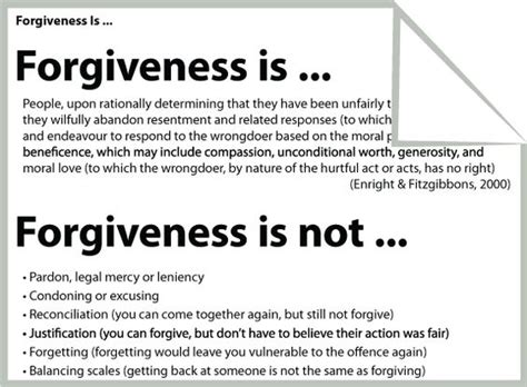 forgiveness worksheets handouts and cognitive