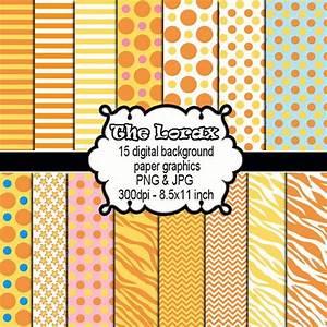 Orange Yellow Clipart - Jungle Polka Dots Chevron ...