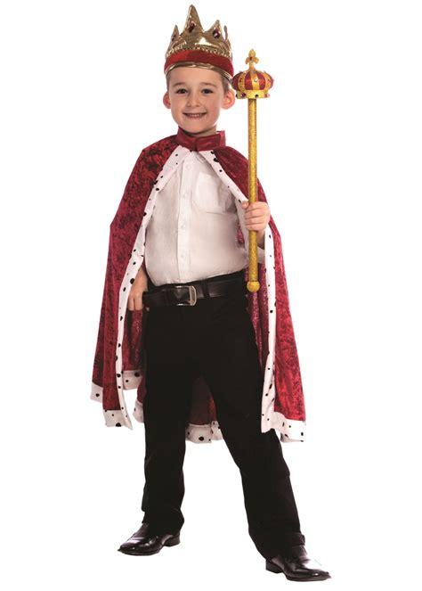 king boys robe  crown set professional costumes
