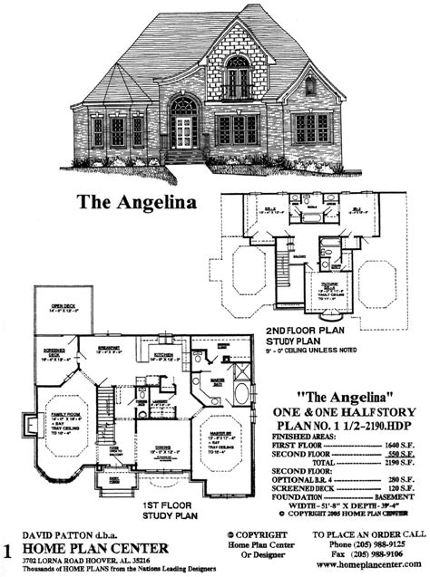 one and a half story home plan center 1 1 2 2190 hdp