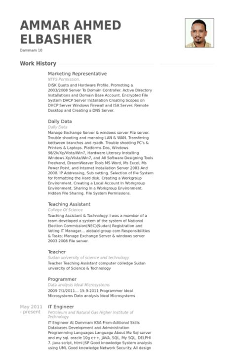 marketing representative resume sles visualcv resume