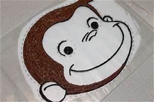 the simple cake curious george birthday cake With curious george cake template