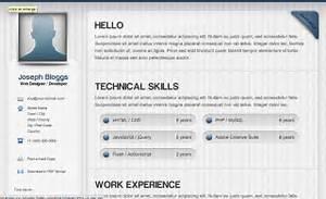 Html Resume Templates Css Menumaker