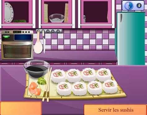 cour de cuisine gratuit en ligne jouer à cours de cuisine de california rolls jeux