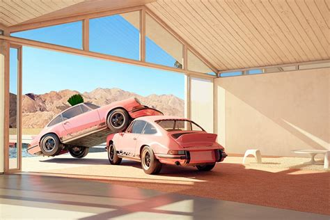 Cars & coffee palm beach. chris labrooy parks porsches in surreal scenes in palm springs