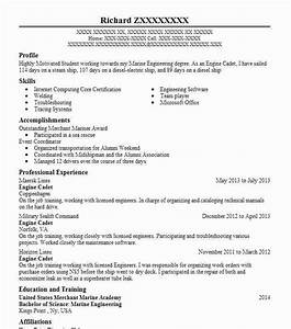 Engine Cadet Resume Example C Man Maritime  Inc