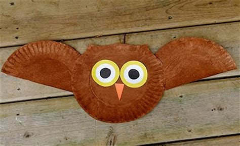recycling ideas  kids paper plate owl craft crafts