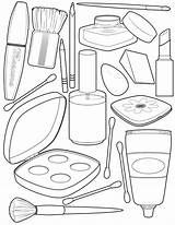 Coloring Pages Makeup Sheets Blank Books Easy Drawings Clipart Printable Cute Discover sketch template