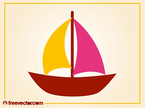 Sailboat Vector by Stylized Sailboat Vector Vector Graphics