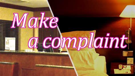 complaints  hotel room japanese conversation