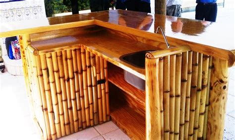 Bamboo Tiki Bar Plans by Tiki Bar Plans Search Benches Swings Tiki