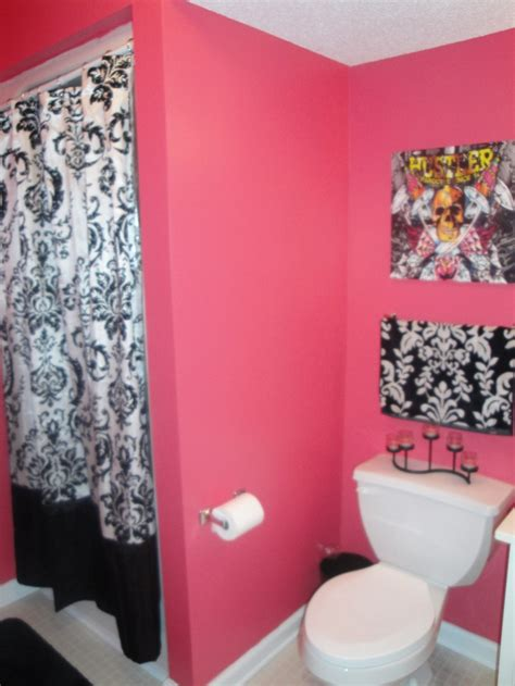black and pink bathroom ideas the pink and black for bathroom maybe