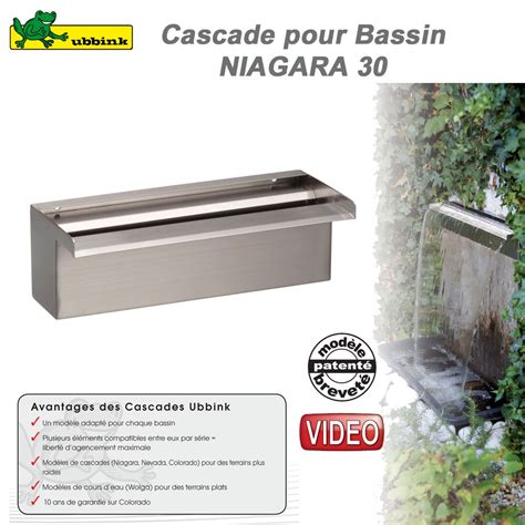 cascade pour bassin exterieur cascade de bassin de jardin ext 233 rieur niagara 30 ubbink 1312085 ubb