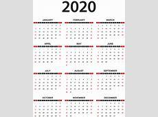 2020 Calendar Transparent PNG Clip Art Gallery