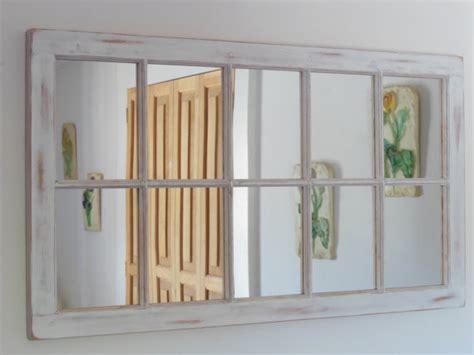 shabby chic window mirror white distressed framed mirror window mirror window pane window sash mirror shabby chic