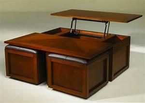 Table Basse Pouf Intégré : table basse relevable avec pouf ~ Dallasstarsshop.com Idées de Décoration