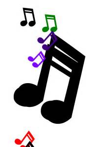 Colored Music Notes Clip Art