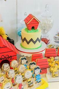 Kara's Party Ideas Peanuts + Snoopy Birthday Party | Kara ...
