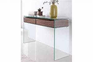 Console Entrée Design : console design en verre et bois hartley console pas cher ~ Premium-room.com Idées de Décoration