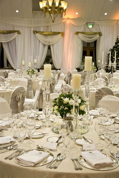 a gorgeous wedding table setting in the k club the neutral tones create a very classic go