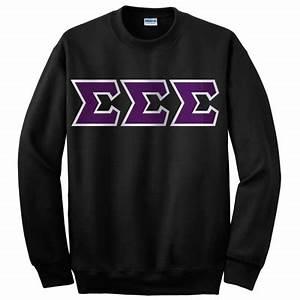 sigma sigma sigma crewneck sweatshirt gildan 12000 With greek letters crewneck