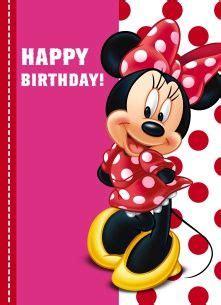 minnie mouse  jurk met rode stippen happy birthday