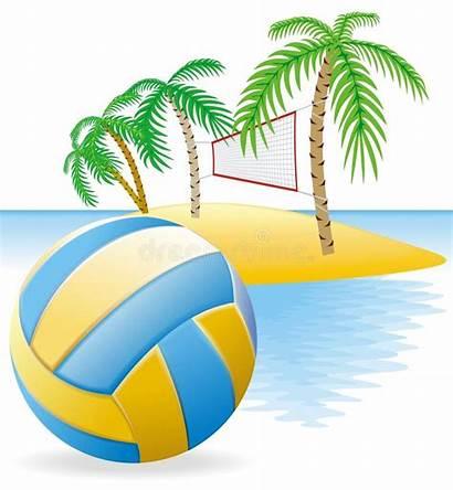 Volleyball Beach Clipart Volley Cartoon Summer Team