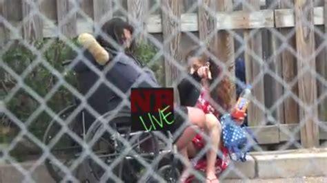 homeless crackhead  wheelchair   blowie