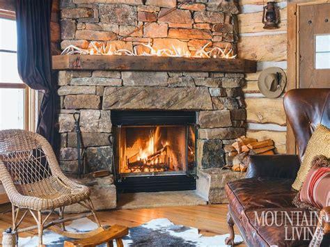 fireplace stone fireplaces mantels wood beams