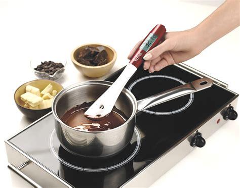 ustensile de cuisine en silicone spatule thermomètre amovible yoocook thermomètre de