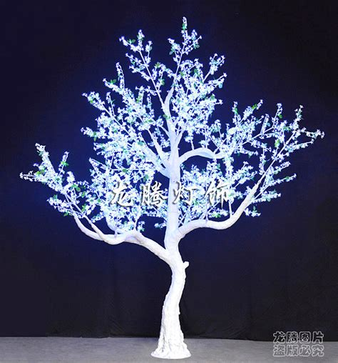 2014 acrylic white outdoor lighted trees view