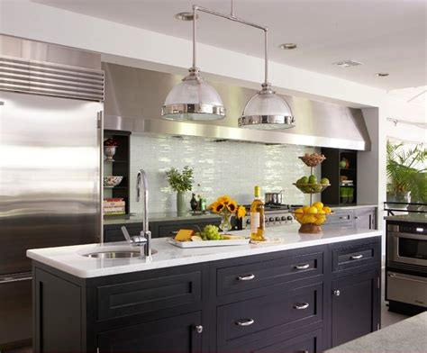 spring lake beach chic beach style kitchen  york