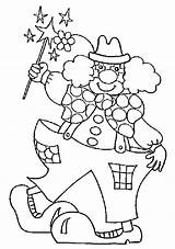 Coloring Carnival Pages Clown Funny Costume Ferris Wheel Freddy Magic sketch template