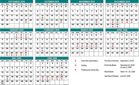 school year calendar st clair cds board
