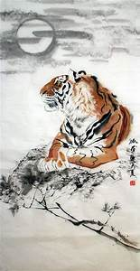 Chinese Tiger Painting 4695014, 66cm x 136cm(26〃 x 53〃)