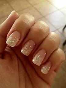 Most beautiful glitter french tip nail art design ideas