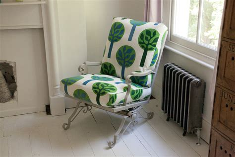 iron rocking chair poet and green