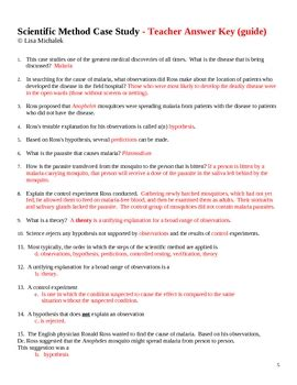 scientific method story worksheet answer key scientific method case study by lisa michalek teachers
