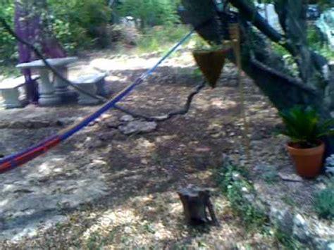 restored labyrinth garden hippie hammock big tree vines austin tx youtube