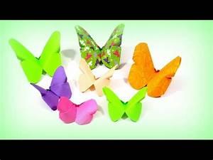Origami Schmetterling Anleitung : origami schmetterling falten basteln mit papier diy bastelideen ~ Frokenaadalensverden.com Haus und Dekorationen