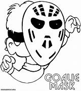 Goalie Coloring Mask Pages Coloringway sketch template